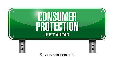 illustrazione, segno, protezione, disegno, consumatore, strada