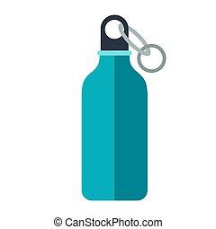 illustrazione, travel., icona, flask., turismo, immagine, o
