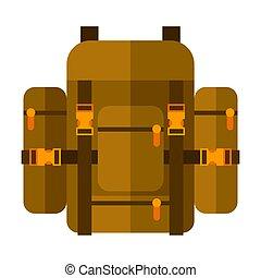 illustrazione, travel., icona, turismo, immagine, backpack., o