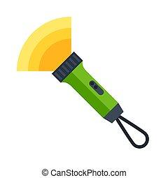 illustrazione, travel., icona, turismo, immagine, flashlight., o