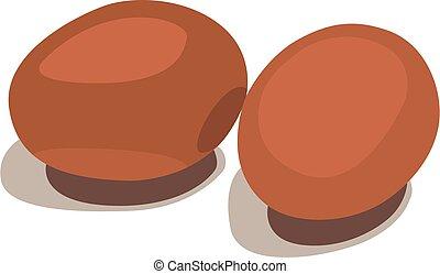 illustrazione, uovo, vettore, realistico, isolato