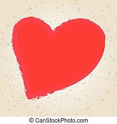 illustrazione, valentine, disegno, giorno, mano