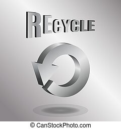 illustrazione, vettore, frecce, logotipo, design., 3d