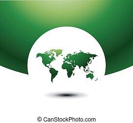 illustrazione, vettore, mappa, mondo