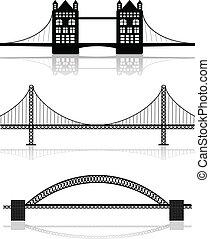 illustrazioni, ponte