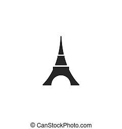 ilustration, torre, eifel, vettore