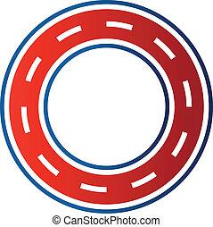 image., gara di motocross, circuito, cerchio, strada