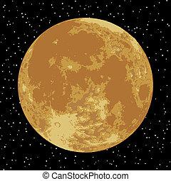 image., moon., eps, realistico, vettore, 8