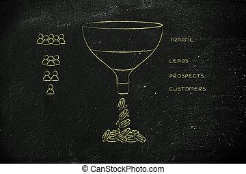 &, imbuto, icone, prospettive, persone, vendite, piombi, traffico, clienti