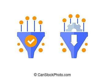 imbuto, vendite, optimization, tasso, conversione, icone