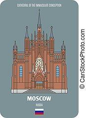 immacolato, russia, cattedrale, mosca, concezione