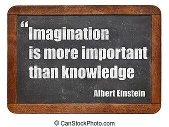 immaginazione, conoscenza
