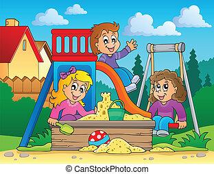 immagine, 2, tema, campo di gioco
