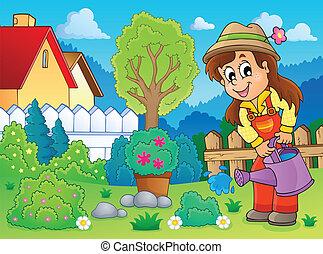 immagine, 2, tema, giardiniere