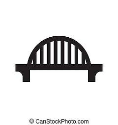 immagine, bianco, vettore, nero, ponte, fondo., isolato, icona