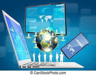 immagine, congegno, mobile, tocco, telefono, schermo, laptop, ammobiliato, nasa), (elements, questo