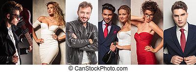 immagine, differente, moda, gruppo, persone, collage
