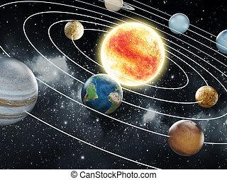 immagine, elementi, nasa., sistema, solare, ammobiliato, illustration., questo