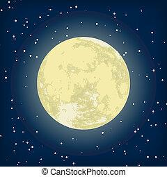 immagine, eps, luna, vettore, 8, night.