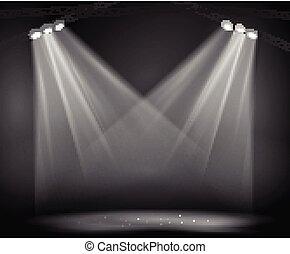immagine, palcoscenico, riflettori, fondo