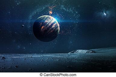 immagine, pianeti, elementi, nasa., questo, astratto, stars., nasa, fondo, -, ammobiliato, spazio, scientifico, gov, nebulosa