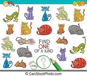 immagine, tipo, trovare, uno, gioco, gatti, cartone animato