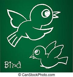 immagine, uccello, vettore