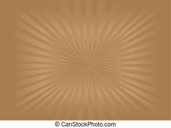 immagine, vettore, -, sunburst