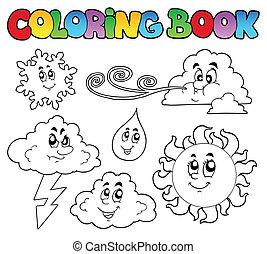 immagini, coloritura, tempo, libro