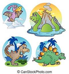 immagini, dinosauro, 1, vario