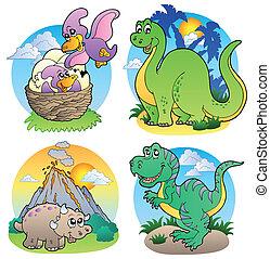 immagini, dinosauro, 2, vario