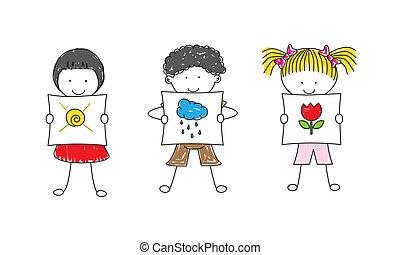 immagini, esposizione, bambini