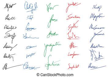 immagini, firma