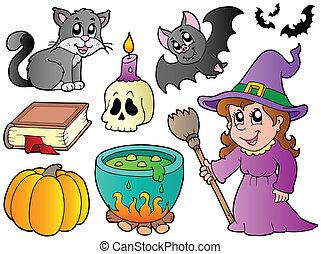 immagini, halloween, collezione