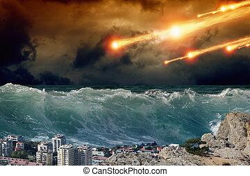 impatto, tsunami, asteriod