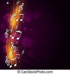 impaurito, musica, fondo