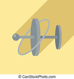 impeto, appartamento, giroscopio, vector., icona telefono