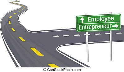 impiegato, imprenditore, decisione, affari firmano
