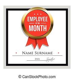 impiegato, sagoma, certificato, mese