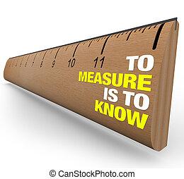 importanza, righello, -, metrics, sapere, misura