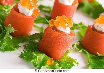 in crosta, salmone