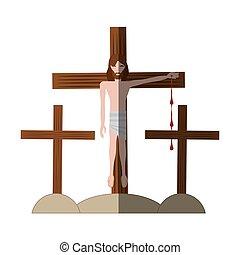 inchiodato, uggia, gesù cristo, croce