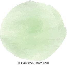 inchiostro, morbido, verde, cerchio