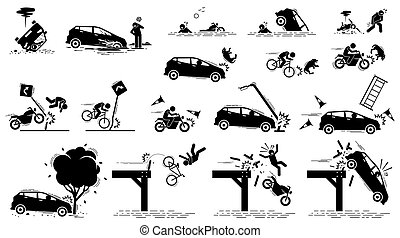 incidente automobile, rischio strada, traffico, mishap.