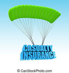 incidente, concetto, assicurazione, illustrazione, 3d