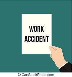 incidente, testo, esposizione, lavoro, carta, uomo