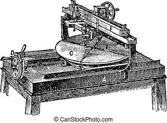 incisione, macchina, vendemmia