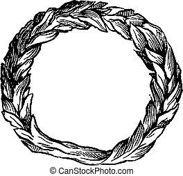 incisione, vendemmia, celtico, anello