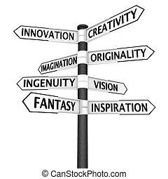 incrocio, creatività, segno