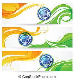 india, tricolore, bandiera